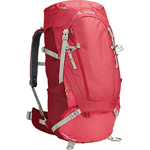 VAUDE Women's Asymmetric 48+8 - Macuto de senderismo color indian red, talla 56L