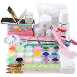 Fashion Galerie Nailart Acryl Set Acryl Nageldesign Starterset professionelles Nagelstudio Kit Satz