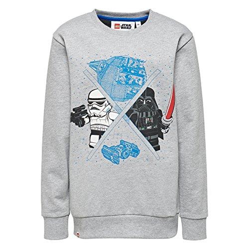 LEGO Wear Jungen Lego Boy Star Wars M-72665-Sweatshirt, Grau (Grey Melange 921), 128