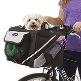 Global Brands Online Haustier-Welpen-Fahrrad-Korb-Speicher-Welpe-Reitbike-Überdachungs-Hund Katze Träger-Sicherheits-Fahrrad-Korb