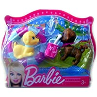 Mattel - Barbie mini pets - perritos con flotador y cubo