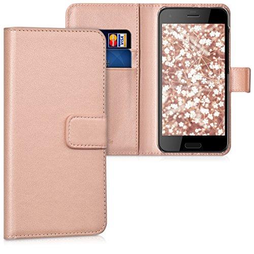 kwmobile HTC One A9s Hülle - Kunstleder Wallet Case für HTC One A9s mit Kartenfächern und Stand