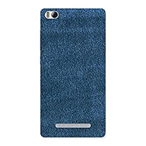 Delighted Royal Blue Cloth Print Back Case Cover for Xiaomi Mi4i