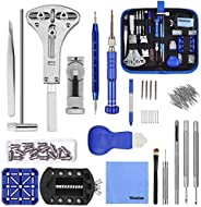 Vastar 177pcs Watch Repair Kit,Professional Spring Bar Tool Set,Strap Link Removal Adjustment Kit,Watch Band L