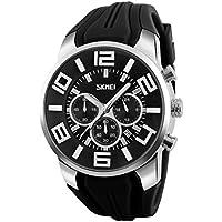 NICERIO Reloj electrónico Multifuncional Impermeable Relojes de Pulsera Digitales Relojes Deportivos al Aire Libre (Negro)