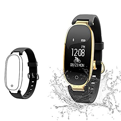 Top-Vigor Fitness Tracker, Swimming Heart Rate Monitor - Colour Screen Fitness Watch Activity Tracker Pedometer with Sleep Monitor Step Calorie Counter Weather GPS - Kids Men Women - IP68 from Top-Vigor