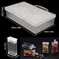 Blusea Sorting box,64 Slot Classification Jewelry Box Acrylic Storage Box Transparent Plastic Detachable Compartment Sorting Box DIY Craft Tools