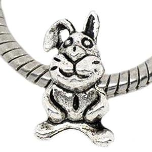 Hase Osterhase Charm Bead für Pandora Troll Chamilia Style Armbänder ®