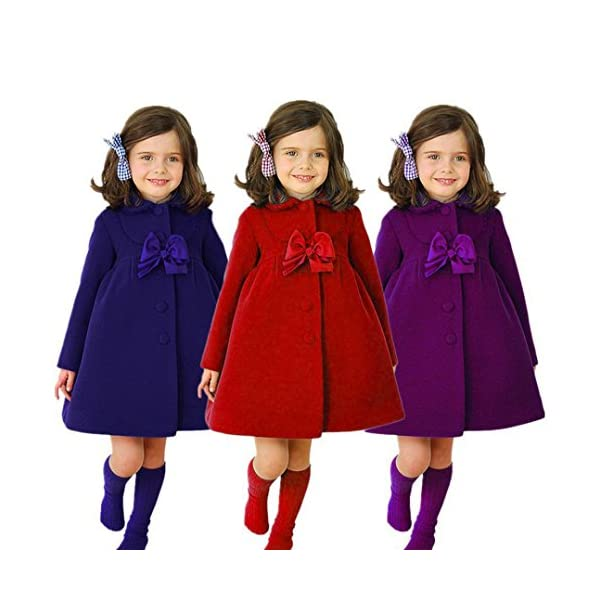 Chaqueta bebé niña, Bebé niñas otoño Invierno Manto Abrigo Chaqueta Ropa de Abrigo 24 Mes - 6 Años 2
