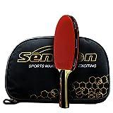 Senston ITTF genehmigt Tischtennisschläger, professionelle Pingpong Schläger Paddel mit Fall, Carbon Blade (schütteln Hände Griffe)