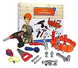 Click n' Play 23-teiliges Kinder Pretend Play echten Arbeiten Spielzeug Werkzeug inkl. Powered, Hammer, Säge, Maßband, Werkzeug Gürtel und andere Konstruktion Zubehör