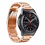 Chunyang 3 Perlen akkurates Schneiden Prozessband Ersatz-Armband-Bügel-Edelstahl-Armband-Uhrenarmband für S3