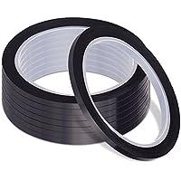 Amaza 20 Rollos 3mm x 33m Negro Cinta Magnética Negra Autoadhesiva Pizarra Blanca Washi Tape (Negro)