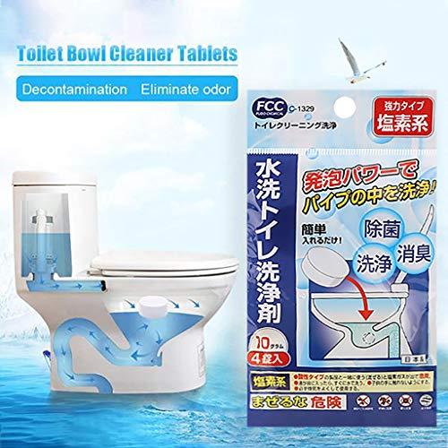 Einweg-wc-reiniger (Einweg-WC-Reiniger Tabletten duftenden Ball weiße Blase Reinigungswerkzeuge)