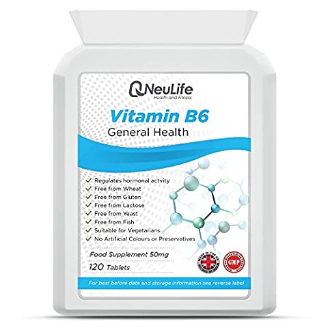 Vitamin B6 50mg - 120 Tablets