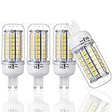 IDACA 4er-Pack G9 Energiesparlampe 220V 9W 69 X 5050SMD LED Spotlicht Lampen Leuchtmittel Birne Warmweiß