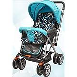 Little Pumpkin Kiddie Kingdom Baby Stroller and Pram for Baby/Kids (Blue Black)