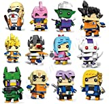 CuteDoll Lote 12 Figura de Dragonball Dragon Ball Puzzle Juego Bloques de construccion tamaño 9 cm...