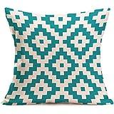 Longra Bohême Géométrique Throw Pillow Case Housse de coussin Décoration de maison 45cm * 45cm (F)