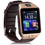 kxcd Bluetooth Smart Watch dz09 Smartwatch GSM SIM Karte mit Kamera für Android iOS (Gold)