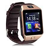 kxcd Bluetooth Smart Watch dz09 Smartwatch GSM SIM Karte mit Kamera für Android iOS (Gold)