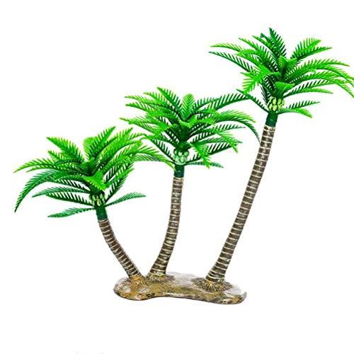 BESTOYARD Decoración Artificial del árbol de Coco Mini Palmeras Tropicales Jardín de...