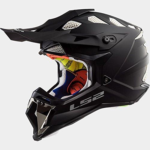 LS2 MX470 Subverter Single Mono Casco de Motocross Para Niños Bicicleta Motocicleta ATV Nero Opaco L(59-60cm)