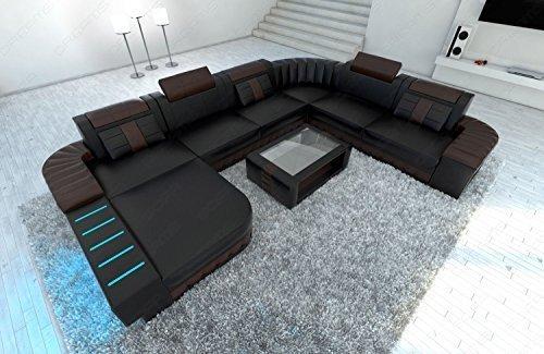 design intérieur de la maison Bellagio XXL avec éclairage LED NOIR / brun foncé