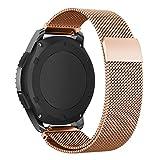 XHAMA Uhrenarmband für Smartwatch mit Magnetverschluss, Edelstahl, für Samsung Gear S3Frontier/S3Classic