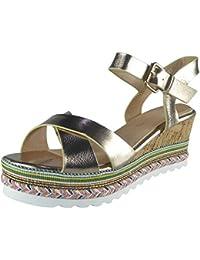 Aux Femmes Sangle de cheville Espadrilles Plateforme Coin Des sandales Taille 36-41