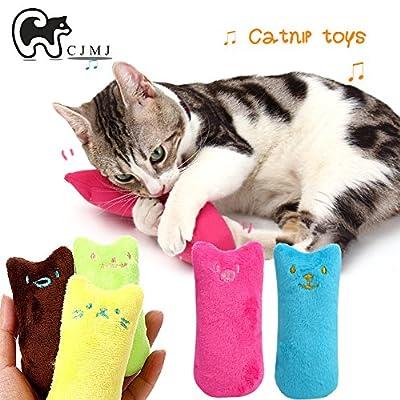 CJMJ Catnip Plush Toy, Cat Teeth Cleaning?Creative Pillow Scratch Pet Catnip Teeth Grinding Chew Toys(5pcs/set)