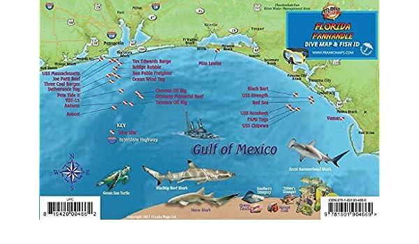 Amazon.in: Buy Florida Panhandle Dive & Wreck Map & Reef ...