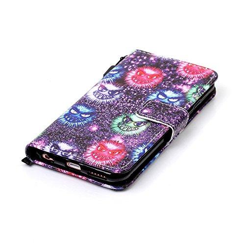 Sunroyal® iPhone 6 Plus (5.5) Bookstyle Étui Housse en PU Cuir Case à Rabat Portefeuille Swag pour Apple iPhone 6 Plus / iPhone 6s Plus (5.5 Pouces) Coque de Protection avec Stand Intérieur TPU Silico B-11