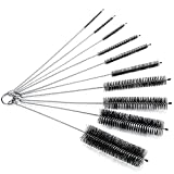 Bottle Brush, NATIONALMATER Bottle Cleaning Brushes, Cleaning Brush, Cleaner for Narrow Neck Bottles Cups with Hook, Set of 10