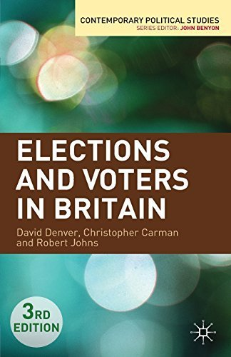 Elections and Voters in Britain (Contemporary Political Studies) 3rd , Revis edition by Denver, David, Carman, Christopher, Johns, Robert (2012) Paperback
