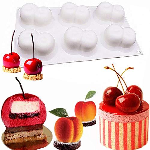 sche Kirsch-Mousse Kuchen Formen La Cirera Mousse Kuchen Formen zum Backen Brownie Schokolade Pudding Weihnachten Desserts Muffin Formen Kuchen Cupcake ()