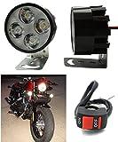 #10: Motorcycle 2x 4 LED Work Light/Driving Fog Spot Lamp for Universal Bike