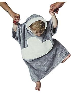 Amlaiworld Mädchen Jungen kleid winter locker Plüsch Pyjamas Kleinkind flauschig warm Wolken Nachtwäsche mit Kapuzen...