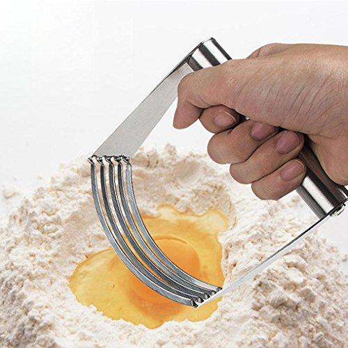 Edelstahl-Mehl-Creme Staubtuch Buttermehlmischer, erthome Teig Mischmaschine oberstes Berufsgebäck Schneider Hochleistungs Edelstahl Werkzeug (Holz-herd-scoop)