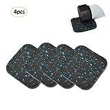 Sue Supply 4PCS Schutzmatten Set Bodenmatte Schutzmatte Fitness Laufband Bodenschutzmatte Matten