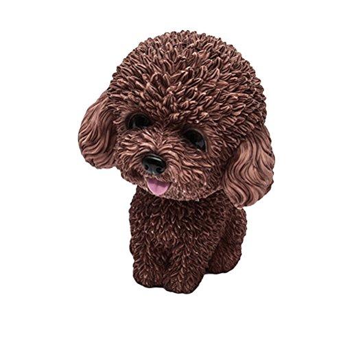Preisvergleich Produktbild VORCOOL Wackelkopf Hund Wackelfiguren für Auto Armaturenbrett Dekoration (Braun)