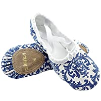 S.lemon Beautiful Blue and White Porcelain Ballet Shoes Dance Shoes Ballet Slippers for Girls Kids Children Toddlers Women in Different Sizes