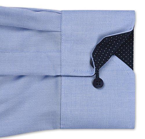 Eterna - Modern Fit - Herren Langarm Hemd mit Kent Kragen, Bügelfrei (8100 X13K) Flieder (92)