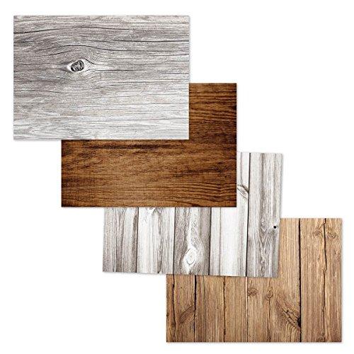 corpus delicti :: Papier-Tischsets als Abreißblock in Holz-Optik als Gastgeschenk - Woody