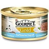 Gourmet Gold Raffiniertes Ragout Thunfisch, 12er Pack (12 x 85 g) Dosen