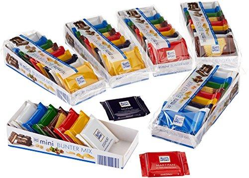 Ritter Sport Mini Knackig-Bunter Mix, 6er Pack (6 x 150 g Packung) (Ritter Sport Marzipan)