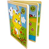 #1: Trinkets & More - Wooden 3D Book Jigsaw Puzzle (6-in-1 & 66 Pieces) | Animal Themed | Early Educational Toys for Toddlers Kids 2 Years + (Random Designs)