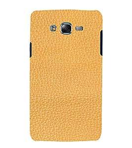 PrintVisa Tan Leather Design 3D Hard Polycarbonate Designer Back Case Cover for Samsung Galaxy J7