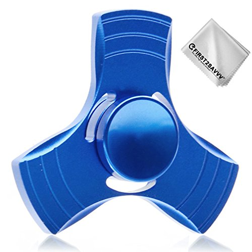 First2savvv Aluminum Alloy Fingertip gyro Hand Spinner Stress Reducer Bearing Fidget Toy( 1 to 3 minutes spin) + Cleaning cloth TL-SYC-03