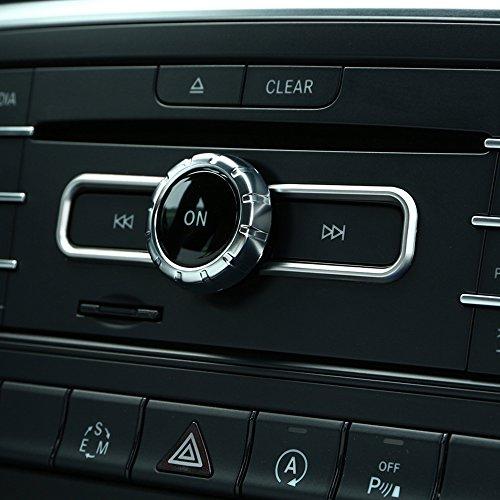 Accessoire intérieur de Chrome ABS de commutateur de CD Garniture de Sequin pour la Classe de GLA A B CLA W212 GLE 2015-2018